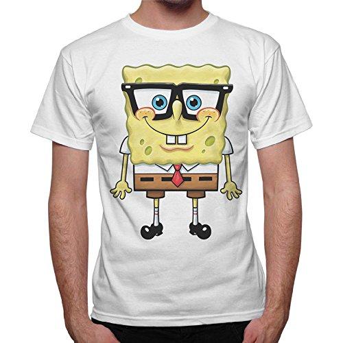 T-shirt homme Bob l'éponge Cartoon éponge–Blanc blanc Bianco M