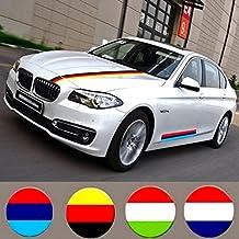 Pegatina de bandera nacional para coche, diseño de bandera de Alemania, Italia, Francia