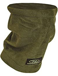Mens Scarf Polar Fleece Army Military Neck Warmer Snood Shemagh Green