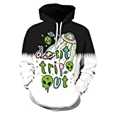 Showtime] Unisex Hoodies, 3D Drucken, Galaxy, Planet, Stars, Sky, Cosmos Designs (S/M, Style- 187)