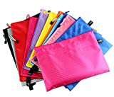 LAAT Dokumententasche mit Reißverschluss für A5 Papier Dokumentenhülle Aufbewahrungstaschen mit Reißverschluss Kosmetiktasche Wasserdich 3X Zufällige Farben size 240 * 170mm
