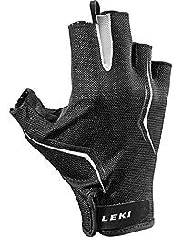 Leki Multi Lite Short Glove–Nordic Walking Guantes, color negro y blanco, tamaño 11