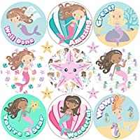 234 Mermaid Praise Words 30mm Reward Stickers for School Teachers, Parents and Nursery