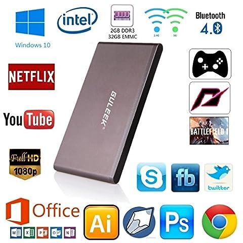 Guleek GPC Wintel Mini Ordinateur de bureau PC Tv Box Windows 10 Ordinateur de poche (Desktop Box)