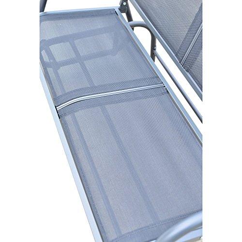 Outsunny Sitzbank, Metall, grau, 123 x 70 x 87 cm, 01-0893 - 4