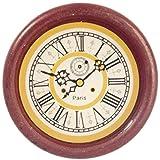 Casa De Muñecas Redonda Reloj De Pared Madera Miniatura 1:12 Escala Accesorio Número Romano