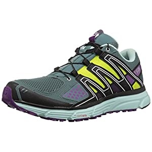 Salomon X-mission 3 W Scarpe da Trail Running Donna, Azzurro (North Atlantic/Eggshell Blue/Grape) 39 1/3 EU