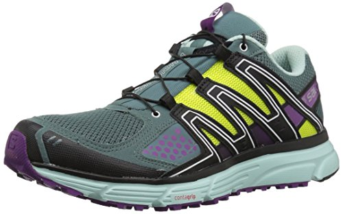 Salomon X-Mission 3 W, Calzado de Trail Running para Mujer, Turquesa (North Atlantic/Eggshell Blue/Grape), 36 EU