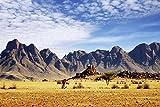 Afrika Savanne Safari Berg XXL Wandbild Foto Poster P0056 Größe 90 cm x 60 cm, Größe 90 cm x 60 cm