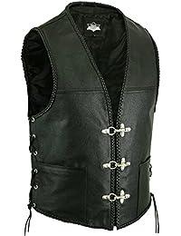 Star Leather - Gilet - Homme noir noir