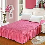Cotone-imbottito letto gonna pezzo singolo/copriletto letto completo in cotone/simmons materasso protezione manica anti-scivolo-H 180x200x45cm(71x79x18inch)