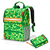 reisenthel Kinder Rucksack Set mit gratis Portemonnaie Geldbörse Backpack + Wallet Kids (Greenwood)