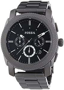 Fossil - FS4662 - Montre Homme - Quartz Analogique - Cadran Noir - Bracelet Acier Noir