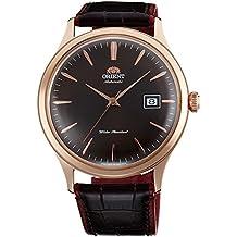 """Orient """"Bambino 4"""" Classic automático con la mano Bobinado Oro Rosa Reloj fac08001t"""