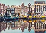 Poster Formato A1, Stampa Artistica con Canale di Amsterdam, 60 x 90 cm, 180 g/mq, Regalo per Case Olandesi #15380