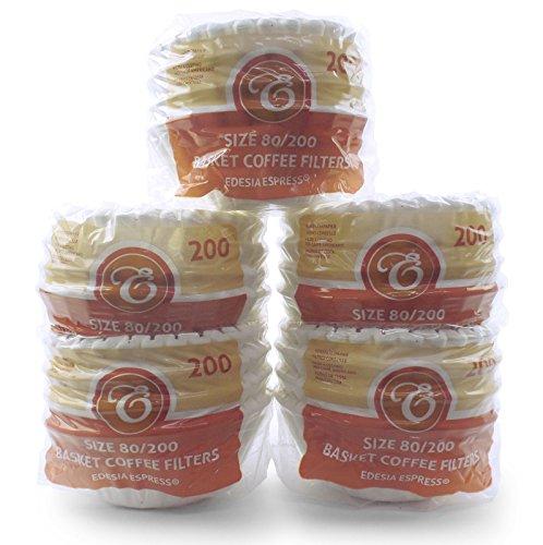 1000 Stück 80/200mm Korbfilter Kaffeefilter - kompatibel mit Beem, Cuisinart, Phillips, Gastroback usw.