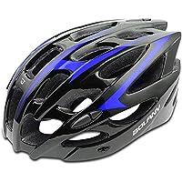 DishyKooker Casco de Ciclismo BOLANY Casco de Bicicleta de montaña al Aire Libre Casco Integrado de Bicicleta Azul Negro tamaño Libre