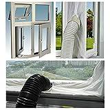Womdee Guarnizione Universale per Finestre per Condizionatore Portatile Asciugatrice per Tutti Condizionatori Portatili, Guarnizione per finestre per climatizzatori ed essiccatori con Scarico