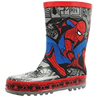 Spiderman Boys Wellies Red