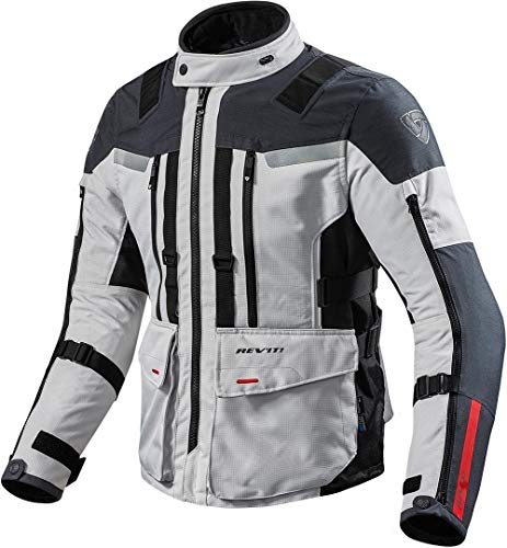 REV'IT! Motorradjacke, Motorrad Jacke Sand 3 Textiljacke Silber/anthrazit L, Herren, Enduro/Reiseenduro, Ganzjährig