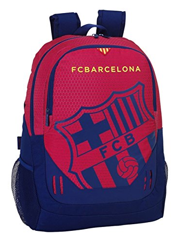 FC BARCELONE - Grand cartable 44cm multipoches Rouge Deluxe Ecusson FC Barcelone