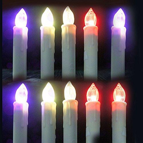 10 * LED sin llama luz de la vela de control remoto de control de la lámpara de la batería operada