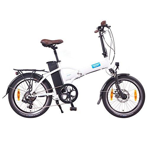 NCM London 20 Zoll Elektrofahrrad,E-Faltrad,E-Bike,Pedelec,Klapprad,36V 250W Bafang Motor, 36V Li-Ion Akku mit 14Ah PANASONIC Zellen,weiß,dunkel blau,schwarz,anthrazit (Weiß) -