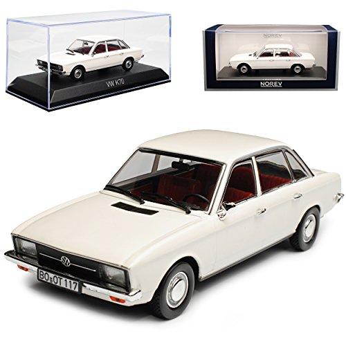 Norev Volkwagen K70 Limousine Weiss 1970-1975 1/43 Modell Auto