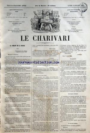 CHARIVARI (LE) du 09/07/1866 - LA SEMAINE DE LA BOURSE / LES GAGNANTS - UNE BOURSE D'ATTENTE - LE BAL DES VICTIMES -JULES MOINEAUX