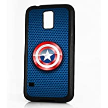 (para Samsung S4) prueba de golpes cubierta suave de teléfono móvil teléfono móvil back cover–hot10150Capitán América