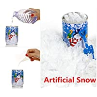 Décoration de Noël artificielle réutilisable de poudre magique de neige de Noël instantané