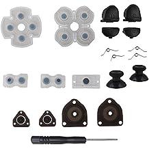 ASIV L1 R1 L2 R2 Botones de Disparo + 2 Muelles 2 Joystick Pulgar Sticks + 1 Set Goma Conductora + Destornillador Solo para PS4 Controlador 1 generación