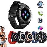 Altsommer 1,54-Zoll-IPS-HD-LCD Smart Watch mit SIM- und TFcard-1.3M Kamera,Watch mit Bluetooth,2.5D gebogenes TP, Schlafüberwachung,Schrittzähler,Multi Sprachen für Android,IOS (Rot)