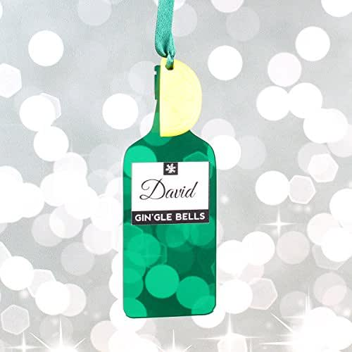 personalised gin and tonic christmas gift bauble
