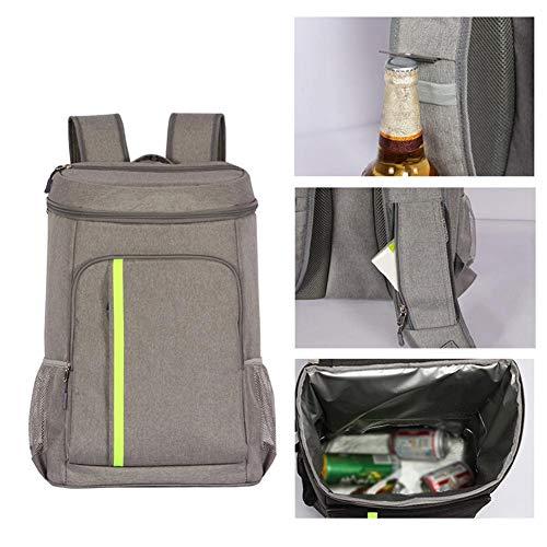 Waroomss borsa da picnic portatile 32.8l, zaino isolato leggero, escursionismo picnic, campeggio, escursioni di pesca, zaino di grandi dimensioni per uomo, donna, grigio