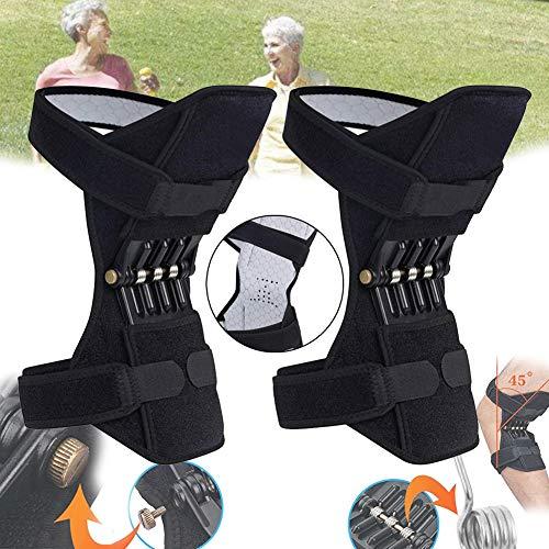 Elastische Knorpel Knie-unterstützung (BLLJQ Knieschutz-Booster Knieschoner Elastische Atmungsaktive Verstellbare Geeignet Für Volleyball, Trainieren, Jumpy, Jogging, Gym, Gelenkkrankheiten Therapie Ect)