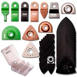 cel ap10 kit d 39 accessoires pour outils multifonction oscillant bricolage. Black Bedroom Furniture Sets. Home Design Ideas