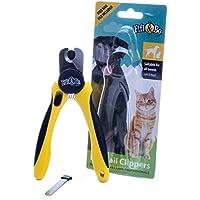 Krallenschere von FIFI&BO – Profi-Krallenzange für Hund & Katze in Tiersalon-Qualität | Neuer Krallenschneider | Krallenpflege für kleine, mittlere & große Hunde, Katzen, Kaninchen, Vögel, Meerschweinchen & andere Nager | Pfoten-Schere mit Sicherheitsverschluss | Nagelzange mit Sicherheits-Abstandhalter | Nagelpflege für alle Rassen | Nagelknipser