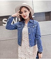 Buildtough Women's Short Jeans jacket (5YTRY, Blue, Standard Size)