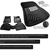 #5: True Vision 3D Perfect Fit Car Floor Mats Set of 4 Black (Without Dicky) for Jeep Compass 2017