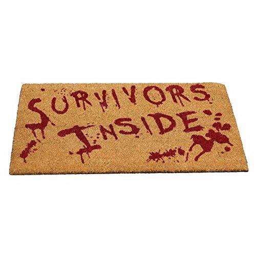 Überlebende drinnen, blutbefleckte Fußmatte braun - Fantasy - Nemesis Now
