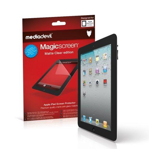 MediaDevil Apple iPad 2/3/4 (2./3./4. Generation, 2011-2012) Displayschutzfolie: Magicscreen Matte Clear (Blendschutz) Edition [2 Stück]