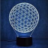 Mmzki Creativo Golfball Lampada 3D Led Visivo Colorato Lampada Da Tavolo Usb Lampada Da Comodino Baby Sleeping Nightlight Novità Decor Regali