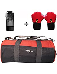 5 O' CLOCK SPORTS Gym Bag Combo Set Enclosed With Polyster Gym Bag With Shoe Compartment For Men For Men And Women... - B07B2WDKCN
