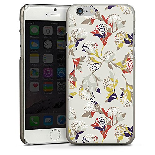 Apple iPhone 4 Housse Étui Silicone Coque Protection Fleurs Fleurs Motif CasDur anthracite clair