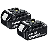 Mak BL1850 BL1850B 18V 5.0Ah Battery Twin Pack for Makita DHP481Z, 18 V