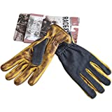 King Kerosin Leder Biker Handschuhe - Work Glove Denim To Faded Brown M