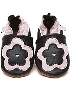Zapatos para bebé (piel de lujo gran flor