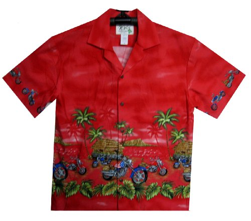 KY's - Chemise Hawaienne authentique originale Rouge