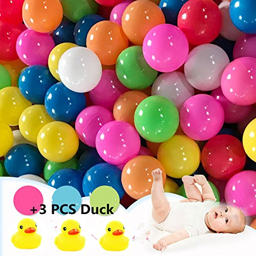 Pack de 50pcs /100pcs bolas, multicolor, diámetro de 5.5cm/ 7 cm ,Marinas Juguete de los Niños Pelotas de Colores para Piscina Bolas de Plástico en Parque Infantil Regalo para Niños Bebé (Color al azar) (5.5CM, 50pcs bolas)